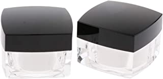 Baosity 2 Pieces Refillable Plastic Cosmetic Sample Containers Bottle Facial Cream Mask Ointment Eye Shadow Pot Jars *