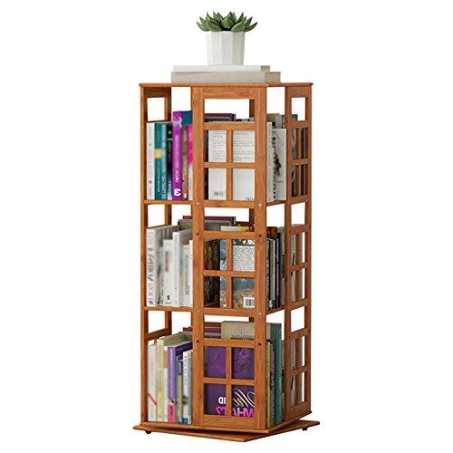 IVHJLP Libreria Scaffale Girevole per Pavimenti a più Piani, scaffale per la Finitura Creativa da Tavolo per scaffali per Bambini (Size : 36 x 36 x 97cm)