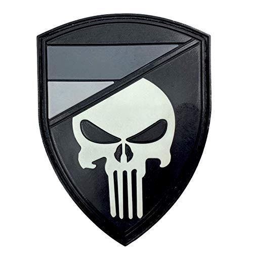 Deutsches Deutschland Gedämpft Flagge Punisher Im Dunkeln Leuchten Cosplay Airsoft PVC Klett Emblem Abzeichen Patch
