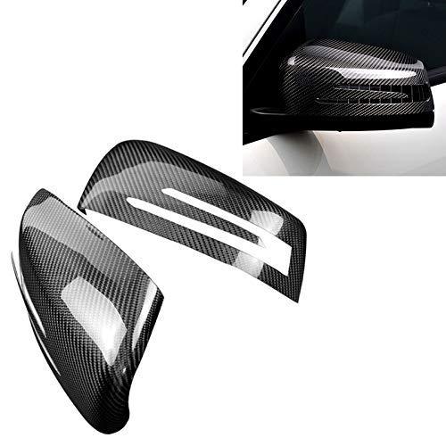 KEKEYANG Vinilo Coche Los depósitos de Coches de Punto Ciego Espejo de Coche de Fibra de Carbono Espejo retrovisor for Mercedes-Benz (2 PCS) Carbono Adhesiva