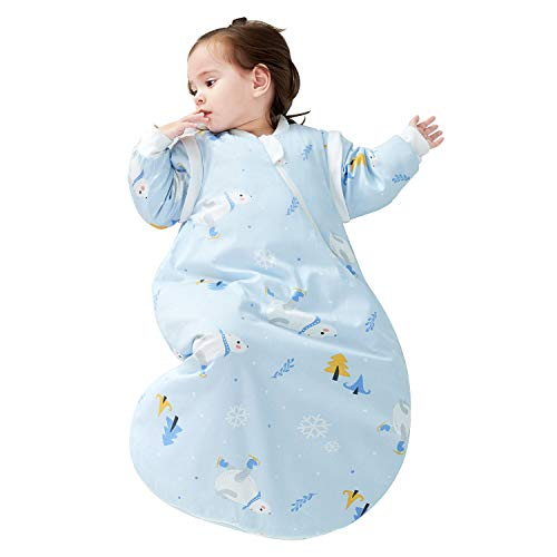 Product Image of the OuYun Baby Sleeping Bag 100% Cotton Long Sleeves Detachable Wearable Blankets...