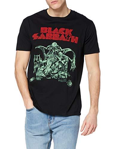 Black Sabbath Bloody Sabbath Cutout Camiseta Manga Corta, Negro, XL para Hombre