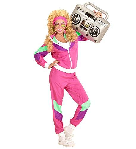 Widmann s.r.l. 80er Jahre Damen Trainingsanzug Kostüm Assi Achtziger Asi Trash Bad Taste Jogginganzug, Größe:XL