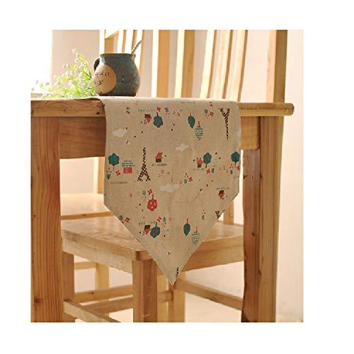 Allshiny Ornament. Dekorationen ländliche Art Leinen Tischflagge Einfache Moderne Doppelbett-Kopfflagge Indoor- oder Outdoor-Partys (Color : A, Size : 11.8 * 55.1in)