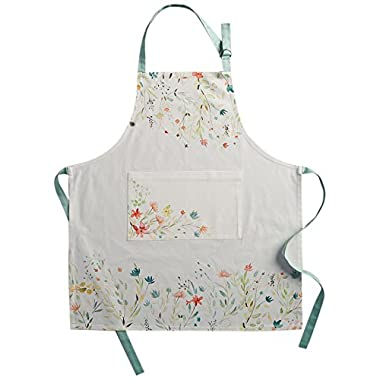 Maison d' Hermine Colmar 100% Cotton Apron with an adjustable neck & visible center pocket , 27.50 - inch by 31.50 - inch