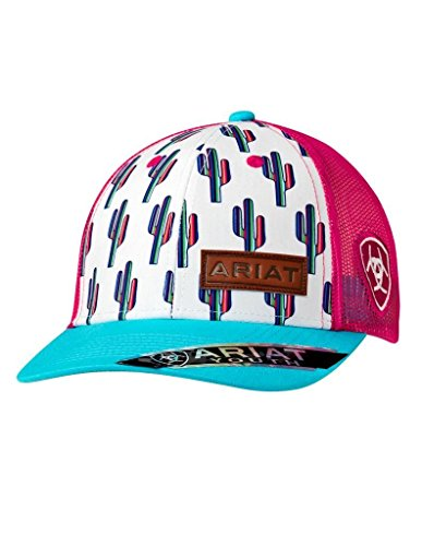 Ariat Brand Youth Girls Multi-Color Cactus Pattern Snapback Hat - 1519105