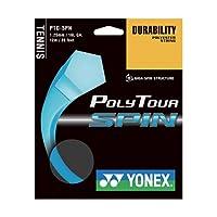 【12Mカット品】ヨネックス ポリツアースピン(1.20mm/1.25mm) 硬式テニス ポリエステル ガット(Yonex Poly Tour Spin) PTGSPN (1.25mm) [並行輸入品]