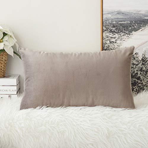 MIULEE Confezione da 1 Federa in Velluto Copricuscino Decorativo Fodera Quadrata per Cuscino per Divano Camera da Letto Casa30X50cm Cuore di Legno