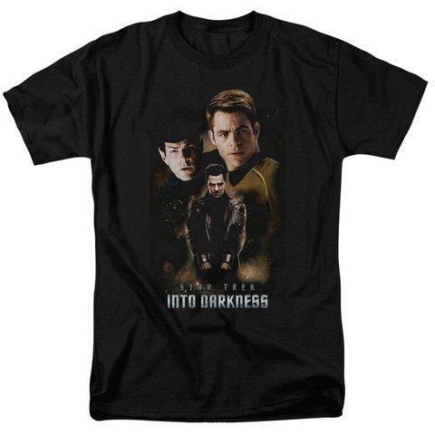 Camiseta Star Trek Into Darkness Spock, Kirk, Harrison Aftermath, Aftermath Black, Large