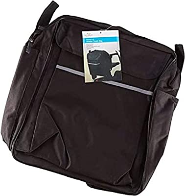 Homecraft Wheelchair Bag with Crutch Pocket, Back of Chair Large Bag for Mobility and Electric Scooter, Waterproof and Wate resistant Accessory Bag