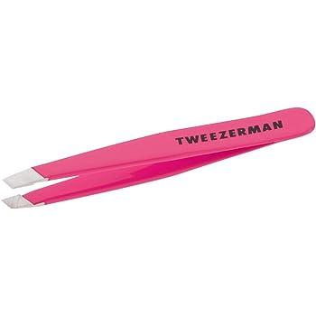 Tweezerman Neon Pink Stainless Steel Mini Slant Tweezer