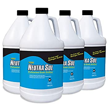 Pro Products Neutra Sul HP01B Professional Grade Oxidizer Neutralize Rotten Egg Smells and Pollutants 1 Gallon 4-Pack 4 Count