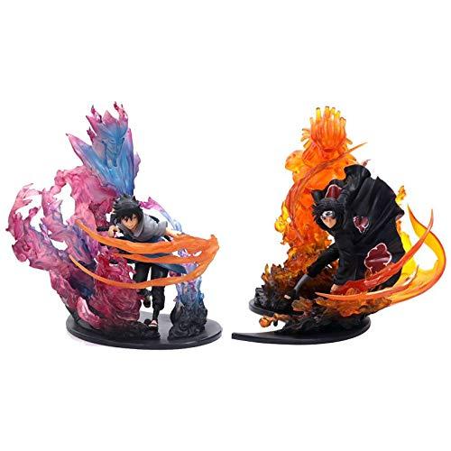 ZHIPENG Decoración de Escritorio Figura Naruto Acción - Uchiha Itachi, Sasuke Figura Susanoo Ver -8