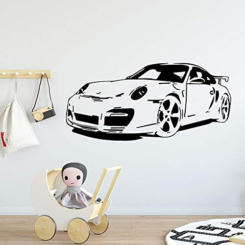 Pegatinas de pared de coche de vinilo autoadhesivo pegatinas de arte de pared a prueba de agua decoración de la habitación de jardín de infantes pegatinas de pared decorativas A5 57x121cm