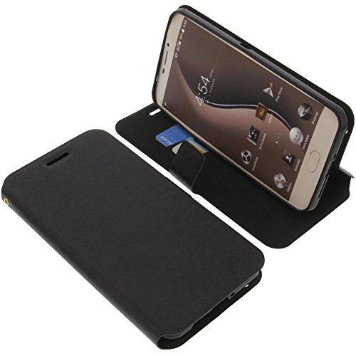 foto-kontor Tasche für Ulefone Gemini Book Style schwarz Schutz Hülle Buch