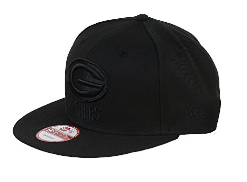 New era Green Bay Packers 9fifty Snapback NFL Black on Black - One-Size