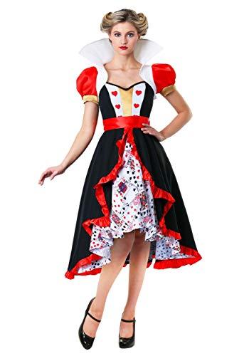 Women's Flirty Queen of Hearts Costume Queen of Hearts Dress X-Small