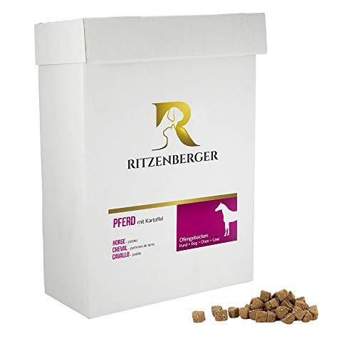 Ritzenberger Hundefutter Pferd, Kartoffel & Gemüse | 6,0 kg Karton | Ofengebackenes Trockenfutter