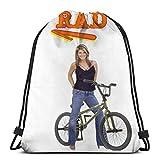 WH-CLA Cinch Bags Afrodisiac Shroom 2 Borsa Sportiva Durevole Cinch Pack Borse Casual con Coulisse Borsa da Viaggio da Viaggio Sport all'Aria Aperta Anime Uomini Stampati Zaino con Coulis