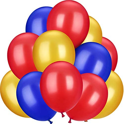 100 Pieces 13 inch Latex Balloons Colorful Round Balloons for Wedding Birthday Festival Party product image