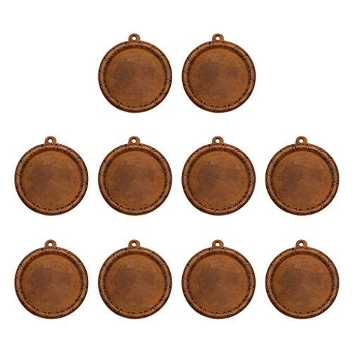 Hellery 10 Piezas de Colgante de Collar de Madera Natural Cabujón - Modelo 3, Individual