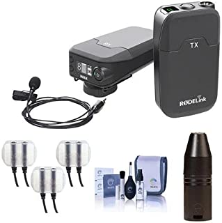 Rode Microphones RODELink Digital Wireless System for Filmmaker - Includes TX-BELT Transmitter, RX-CAM Wireless Receiver, Lavalier Mic - With 3.5mm Mini Jack to 3-Pin XLR Input Connector and More