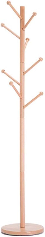 WYQSZ Coat Rack Solid Wood Coat Rack Floor Bedroom Modern Simple Single Pole Type Household Hanger Simple Storage Rack Hanging Rack Coat Rack - Coat Rack 8563