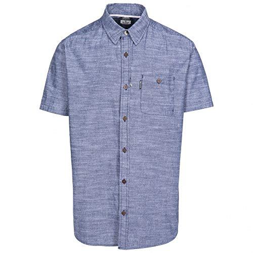Trespass Slapton Chemise à Manche Courte Homme Bleu Marine FR: L (Taille Fabricant: L)