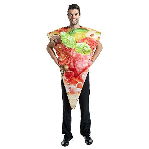 Eraspooky Adulto Disfraz Pizza Fiesta 3D Disfraces Comida Chorizo Pizza Slice