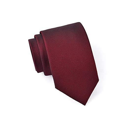 Massi Morino ® Seidenkrawatten für Herren - handgenähte Krawatte weinrot bourdeaux schwarz black feinesmuster feinesmotiv rotekrawatte red feuerrot kirschrot redtie