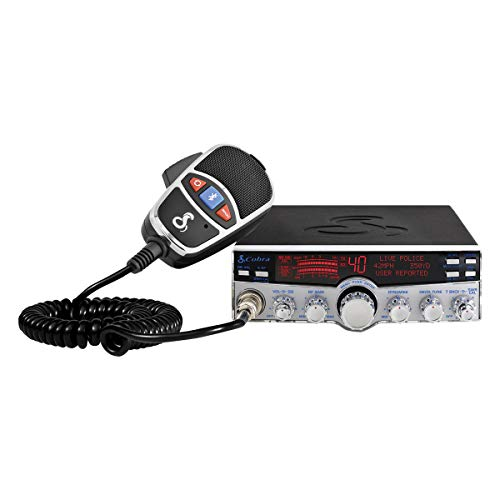 Cobra 29 LX MAX Smart Professional CB Radio - Emergency Radio, Travel Essentials, Bluetooth Legal Hands Free, iRadar App Integrated, 4-Color LCD, NOAA Alerts, Rewind-Say-Again, Black & Silver