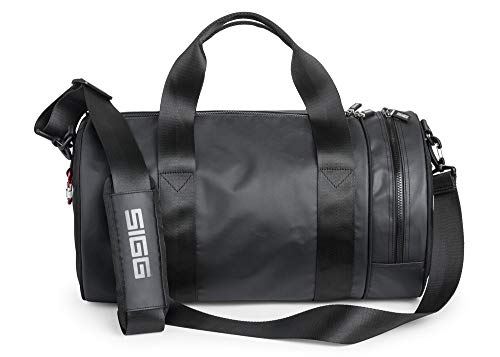 SIGG Reisetasche, Sporttasche, rund, 65,5 Liter, schwarz, mehrere Reißverschluss-Fächer