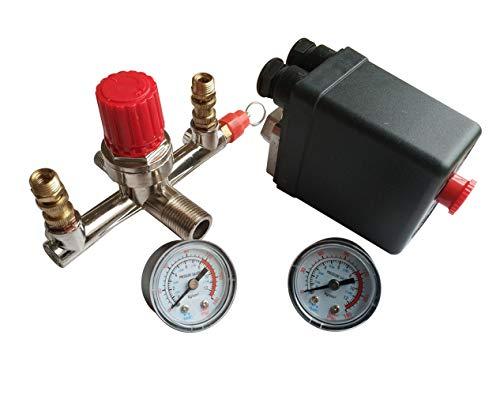 Compressore d'aria pressostato, con regolatore di pressione della valvola di controllo