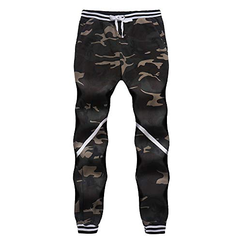 KPILP Hosen Männer Dicker Sportswear 2018 Herbst Warmer Harem Camouflage Drucken Klassische Camouflage Joggers Pockets Jogginghose M-4XL(Armeegrün, 3XL