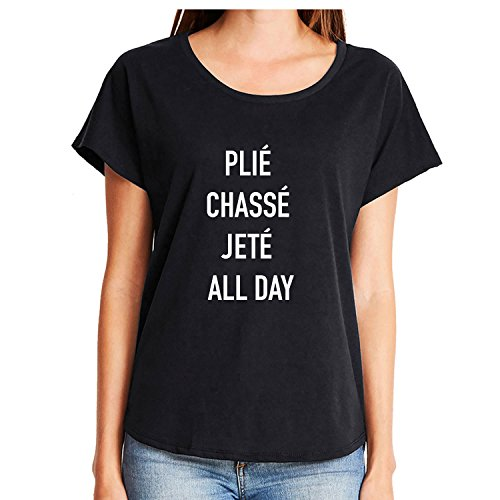 plié chassé jeté All Day Womens Dolman Tee in Black - XXX-Large