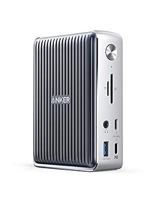 Anker PowerExpand Elite 13-in-1 Thunderbolt 3 Dock ドッキングステーション 85W出力 USB Power Delivery 対応 USB-Cデータ & 充電ポート USB-Aポート 4K対応 HDMIポート 1Gbps イーサネット 3.5mmオーディオジャック microSD&SDカード スロット搭載