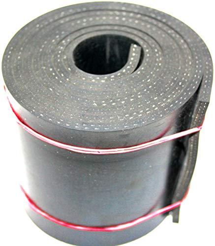 Gummistreifen mit Gewebe 1000x120x5mm Hartgummi, Vollgummi, Gummiauflage, Gummiplatte, Gummimatte, Schürfleiste