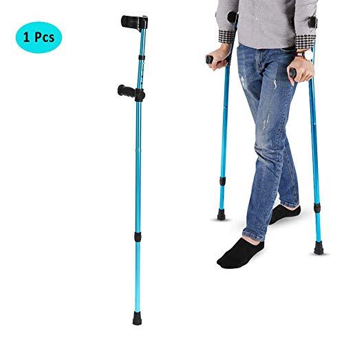 STKJ Verstelbare onderarm, elleboog, onderarm, kroggen, 1 stuks/2 stuks telescopische opvouwbare wandelstokken aluminium trekkingwandelstokken