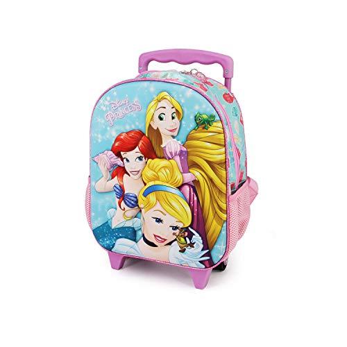 Karactermania Princesas Disney Beautiful - Mochila 3D con Ruedas Pequeña, Multicolor