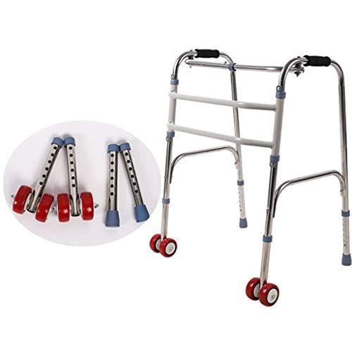 Medical Walker -Rollator Zusammenklappbar mit Rollen und Sitz Professional für Senioren, Behinderte, Behinderte, max. 180 kg