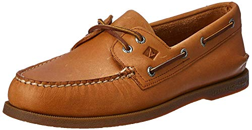 Sperry Herren Authentic 2-Eye Boat Shoe A/O, Sahara, 9.5 S US