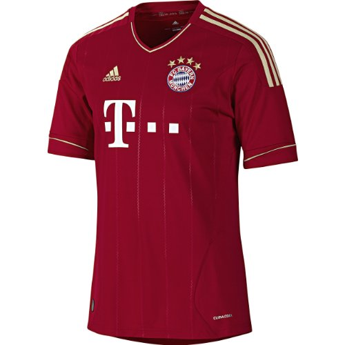 adidas Herren Trikot Fc Bayern Home, university red/light football gold, XXXL, V13554