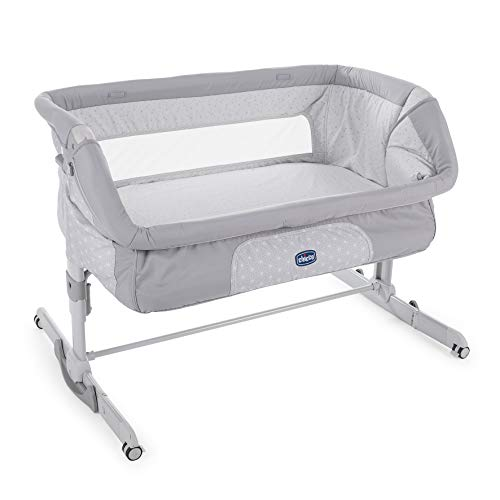 "Chicco 2019 Side Sleeping Crib Next2Me Dream"" Luna Grey"" Baby Side Sleeping Crib Swing Function Brand New"