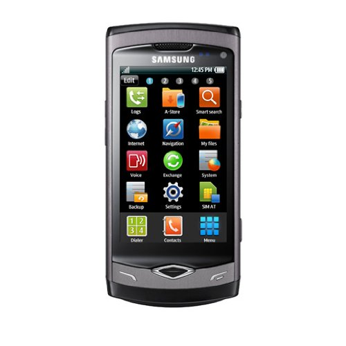 Samsung Wave S8500 Smartphone (Super Amoled Display, Touchscreen, bada-Betriebssystem) metallic-Black