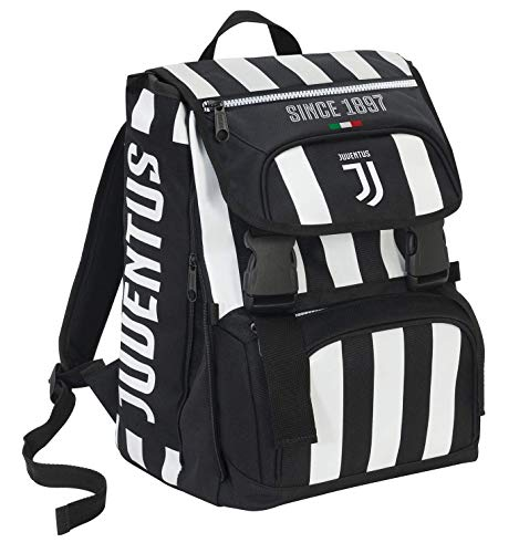 Mochila extensible Big Juventus Coaches y reloj de regalo, 28 l, blanco/negro, 41 cm