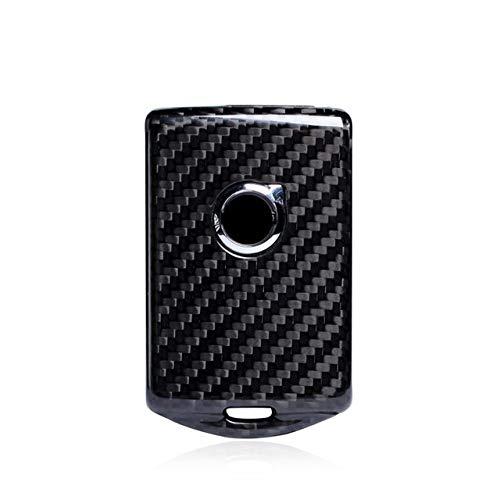YJLOVK Para Funda de protección de Llave de Coche de Fibra de Carbono verdadera para Volvo XC40 XC60 S90 XC90 V90 2017 2018 T5 T6 2015 2016 T8 Soporte de Estilo de Coche, Negro
