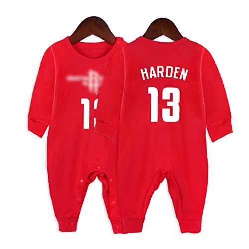 GHQYP Ropa De Bebe Niño con NO.13 James Harden,Body Personalizado Bebe Recien Nacido para los Recién Nacidos,Accesorios para Bebes Recien Nacidos para 3-15 Meses,Red5,80CM(9-12Months)