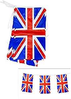 Toyland 4 Meter Union Jack PVC Bunting 11 Flags Perfect for British Celebrations