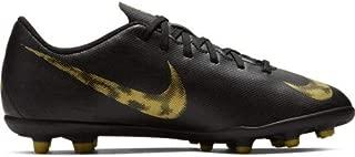 Nike Junior Mercurial Vapor 12 Club FG- Black/Metallic Vivid Gold