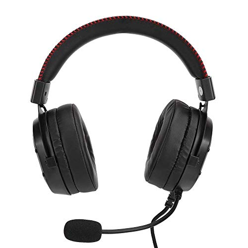 Auriculares para juegos, ABS, compatibilidad universal, auriculares para juegos para PS4, para Xbox one x, para PC, para computadora portátil, para PSP, para tableta, (negro)